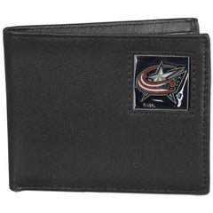 Blue Jackets Leather Bi-fold Wallet