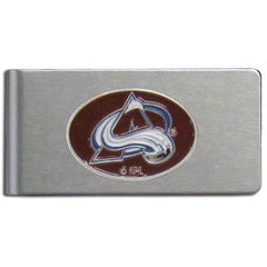 Colorado Avalanche Brushed Metal Money Clip