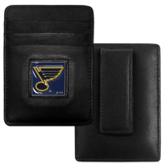 Blues Leather Money Clip/Cardholder