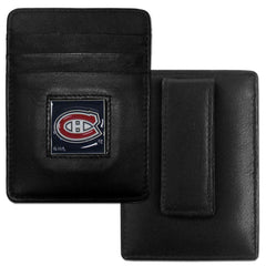 Canadiens Leather Money Clip/Cardholder