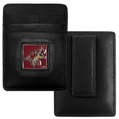 Coyotes Leather Money Clip/Cardholder