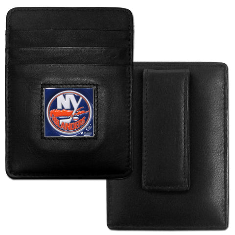 Islanders  Leather Money Clip/Cardholder