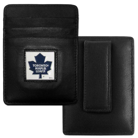 Maple Leafs Leather Money Clip/Cardholder