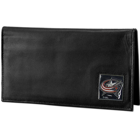 Blue Jackets Leather Dlx. Checkbook