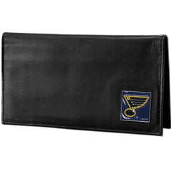 Blues Leather Dlx. Checkbook
