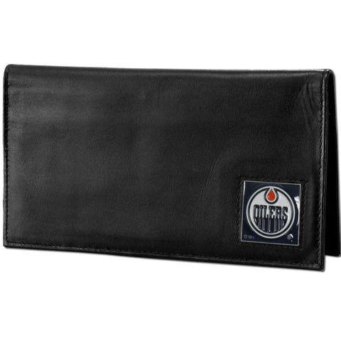 Oilers Leather Dlx. Checkbook