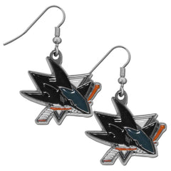 San Jose Sharks Dangle Earrings