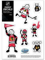 Chicago Blackhawks Small Family Decal Set