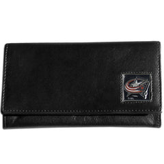Blue Jackets Leather Women's Wallet