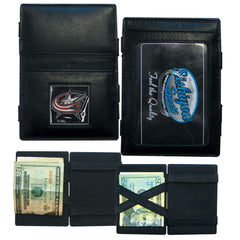 Blue Jackets Leather Jacob's Ladder Wallet