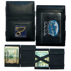Blues Leather Jacob's Ladder Wallet