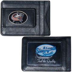 Blue Jackets Leather Cash & Cardholder