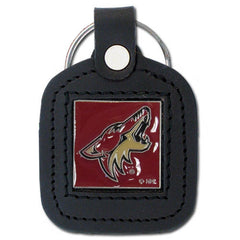 Coyotes Leather Key Chain