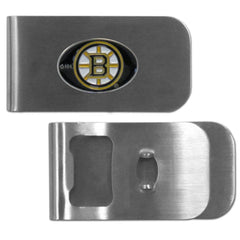 Boston Bruins Bottle Opener Money Clip