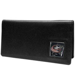 Blue Jackets Leather Checkbook