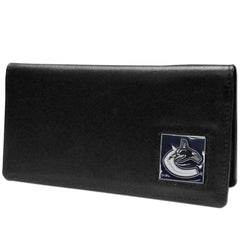 Canucks Leather Checkbook