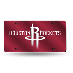 Houston Rockets Laser Cut Auto Tag Color