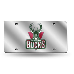 Milwaukee Bucks Laser Cut Auto Tag Silver
