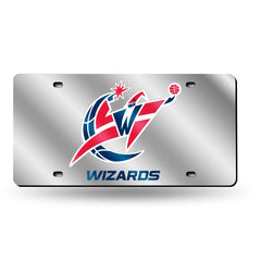 Washington Wizards Laser Cut Auto Tag Silver Style 2