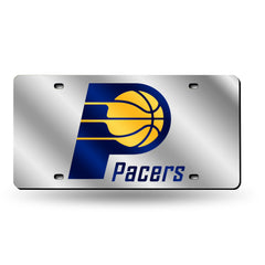 Indiana Pacers Laser Cut Auto Tag Silver