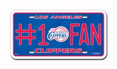 LA Clippers #1 Fan Metal Auto Tag