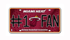 Miami Heat #1 Fan Metal Auto Tag