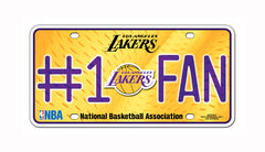 LA Lakers #1 Fan Metal Auto Tag
