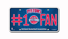 Detroit Pistons #1 Fan Metal Auto Tag