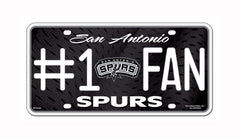 San Antonio Spurs #1 Fan Metal Auto Tag