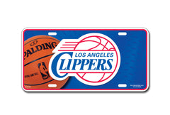 LA Clippers Metal Auto Tag