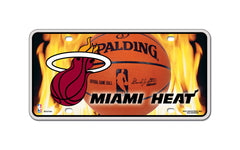 Miami Heat Metal Auto Tag