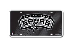 San Antonio Spurs Metal Auto Tag