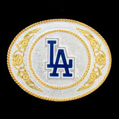 LA Dodgers - Gold and Silver Toned MLB Logo Buckle
