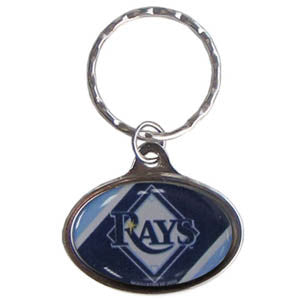 Rays Oval Key Chain