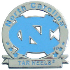 Glossy College Pin - N. Carolina Tar Heels