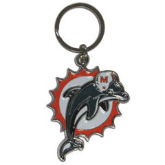 Dolphins Chrome Key Chain