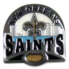 Glossy NFL Team Pin - New Orleans Saints
