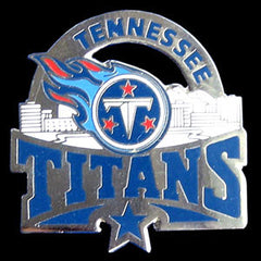 Glossy NFL Team Pin - Tennessee Titans
