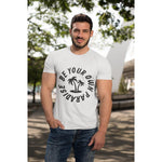 "Load image into Gallery viewer, UPLIFT Men's ""Be Your Own Paradise"" Short Sleeve Graphic Tee - White - Mens"