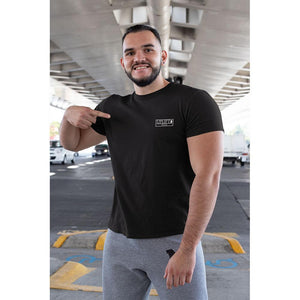 UPLIFT Men's Pique Logo Short Sleeve Tee - UPLIFT Wear - Black - Mens