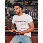 "Load image into Gallery viewer, UPLIFT ""Motivation"" Short Sleeve Graphic Tee - UPLIFT Wear - White - Mens"