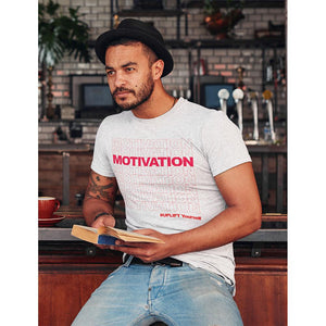 "UPLIFT ""Motivation"" Short Sleeve Graphic Tee - UPLIFT Wear - White - Mens"