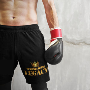 "UPLIFT Men's ""Create Your Legacy"" Athletic Shorts - UPLIFT Wear - Black Mens"