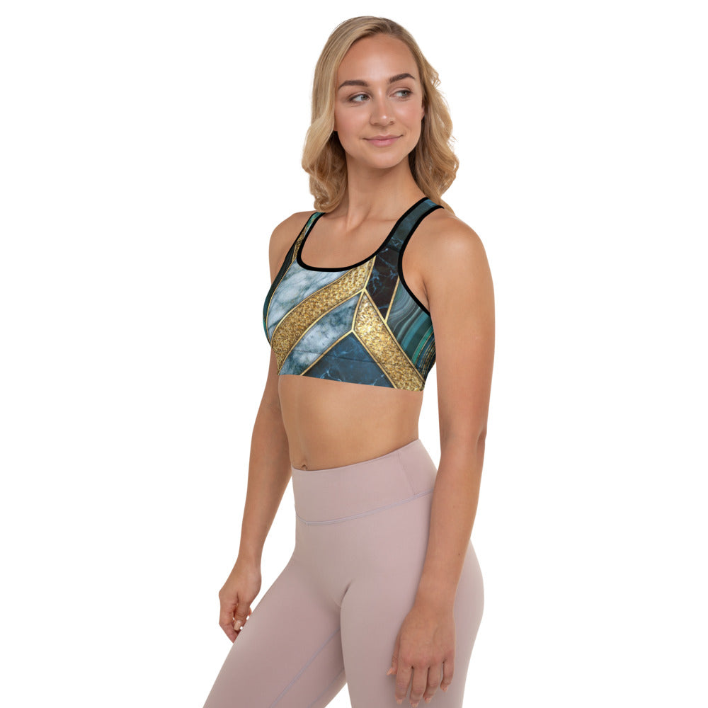 UPLIFT Women's Marble Pattern Sports Bra