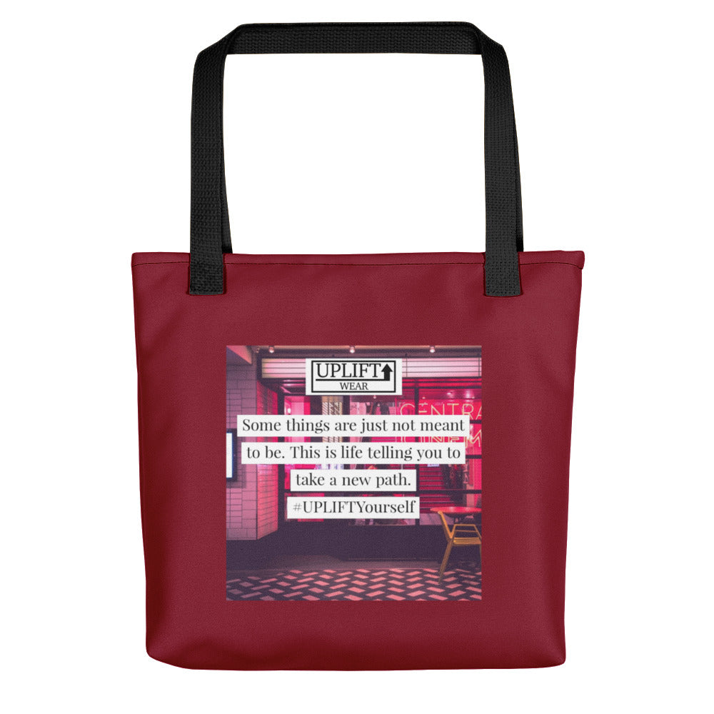 "UPLIFT ""New Path"" Instagram Quote Tote Bag - UPLIFT Wear - Red"