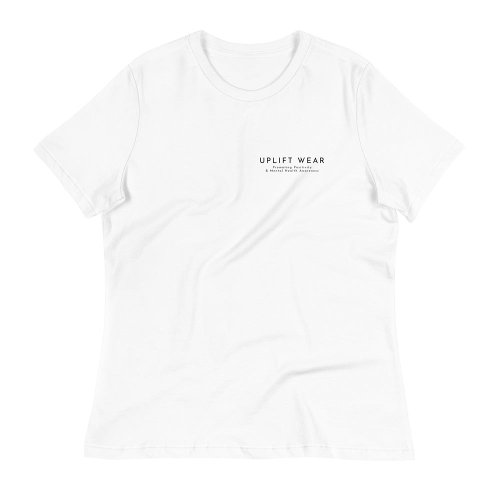 "UPLIFT Women's ""Simple Essentials"" Relaxed T-Shirt - White"