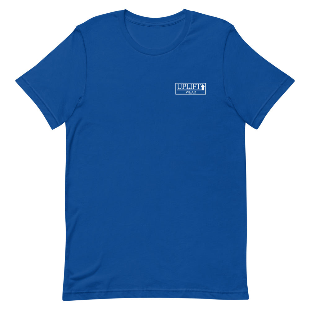 UPLIFT Men's Pique Logo Short Sleeve Tee - UPLIFT Wear - Royal Blue