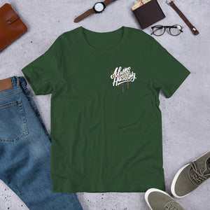 "UPLIFT Men's ""Always Hustling"" Graphic Short Sleeve Tee - UPLIFT Wear - Forest Green"
