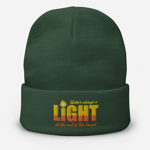 "UPLIFT ""There's Always a Light"" Winter Beanie - UPLIFT Wear - Dark Green"