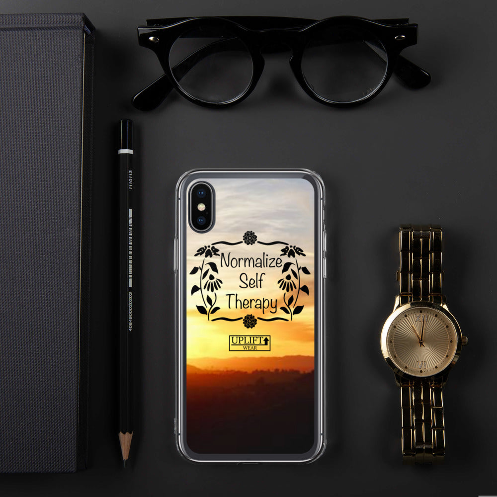 "UPLIFT ""Normalize Self Therapy"" iPhone Case - UPLIFT Wear - iPhone X / XS"